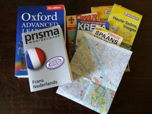 Maps, dictionaries, guidebooks